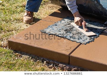 Trabajador de la construcción presión textura plantilla mojado Foto stock © feverpitch