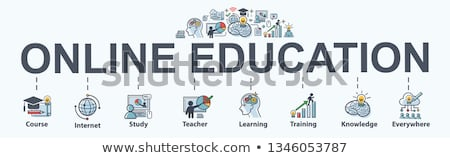 Online teaching concept banner header. Stock photo © RAStudio