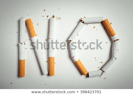 stop word made from cigarettes stock photo © andreypopov