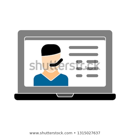 Webinar háló találkozók vektor izolált illusztráció Stock fotó © RAStudio