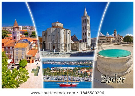 Town of Zadar tourist postcard  Stock photo © xbrchx