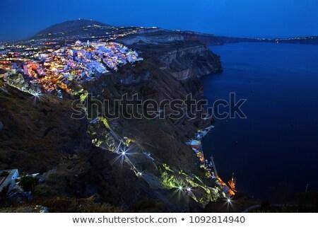 Thira, the capital of Santorini island Stock photo © neirfy