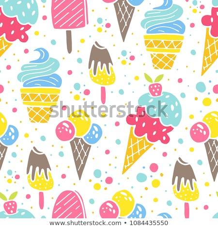 dondurma · üst · görmek · boş · taze · malzemeler - stok fotoğraf © unikpix