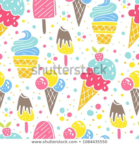 Summer ice cream cones island Stock photo © unikpix