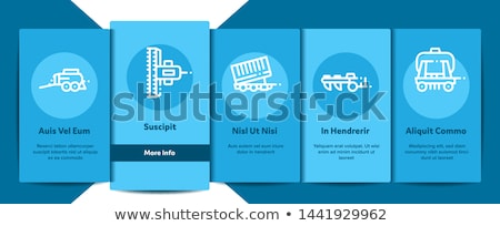 Agricultural Vehicles Vector Onboarding Stock photo © pikepicture