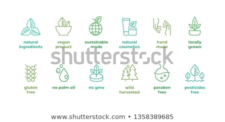 Natural Food and Ingredients, Logo and Veggies Stock photo © robuart