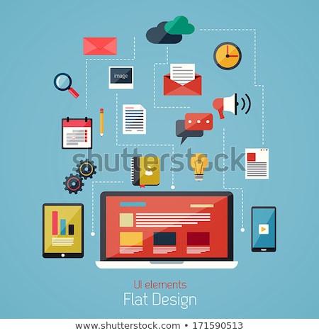 On-line fluxo de trabalho gestão site informações vetor Foto stock © robuart