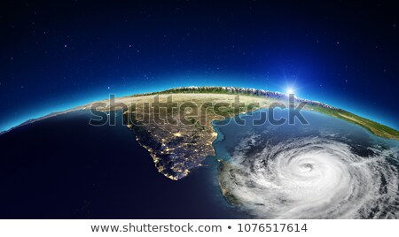 Cyclone - view from space. Elements of this image are furnished by NASA Stock photo © NASA_images