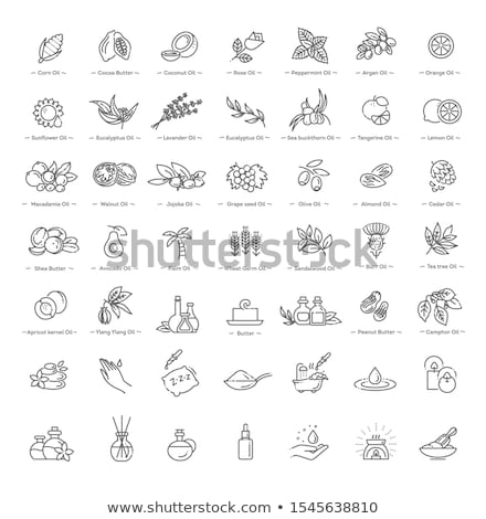 Cosmetic Ingredient Flower Vector Thin Line Icon Stock photo © pikepicture
