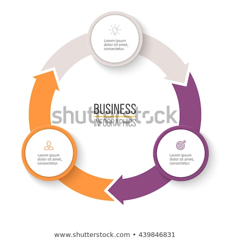 Circular arrows for infographics. Chart, graph, diagram with 3 steps, options, parts. Vector busines Stock photo © kyryloff
