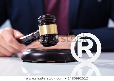 rechter · hamer · hand · huis · model - stockfoto © andreypopov