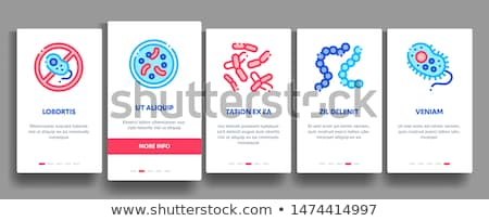 Collectie bacterie vector mobiele app Stockfoto © pikepicture
