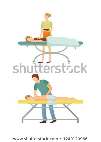 Spa Salon Massage with Chocolate Icons Set Vector Stock photo © robuart