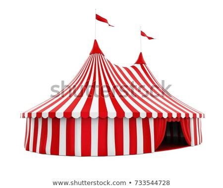 Pretpark tent circus prestaties vector weide Stockfoto © robuart