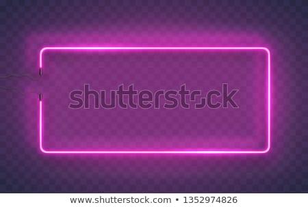 Round Colorful Neon Frame Stock photo © Voysla