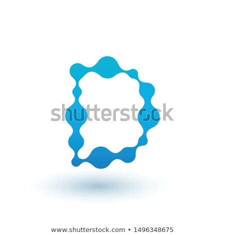 Water molecular initial Letter D Logo design, Fluid liquid Design Element with Dots and shadow. Stoc Stock photo © kyryloff