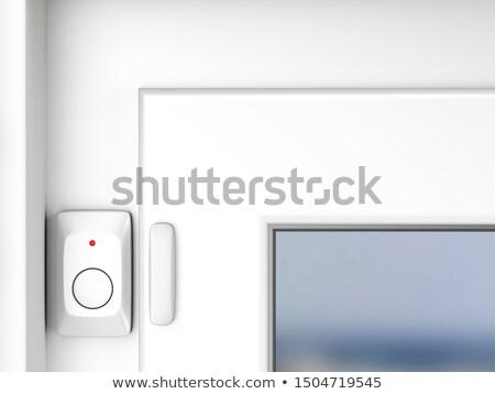 Ventana puerta alarma sensor blanco casa Foto stock © magraphics