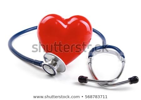Сток-фото: сердце · стетоскоп · мнение · красный · бизнеса
