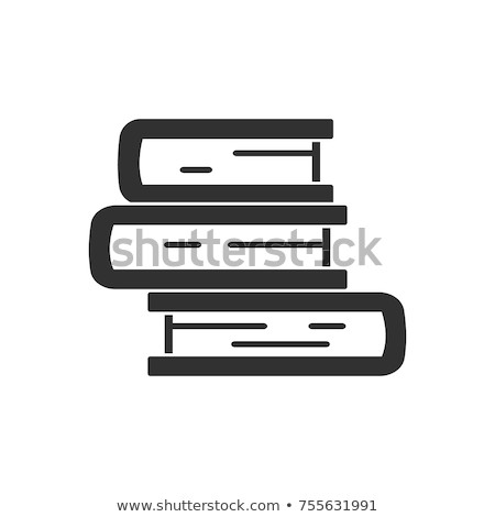 Book Stack Study Literature Monochrome Vector Stock photo © pikepicture