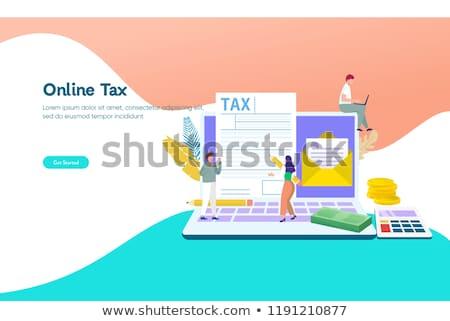 Imposto forma aterrissagem página modelo renda Foto stock © RAStudio