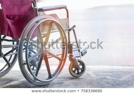 Primer plano discapacidad símbolo verde blanco Foto stock © AndreyPopov