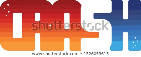 crash color colorful logo logotype word letter Stock photo © vector1st