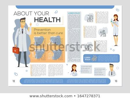 здоровья буклет красочный вектора брошюра шаблон Сток-фото © Decorwithme