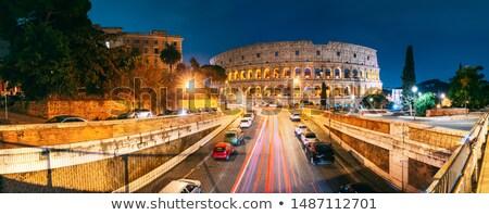 Kilátás római építészet utcák Róma Olaszország Stock fotó © Zhukow