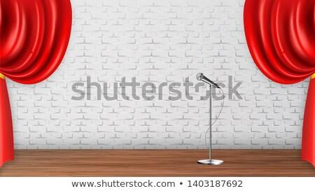 Design Platform Scene For Recital Spectacle Vector Stock photo © pikepicture