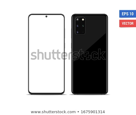 Realistic vector flat mock-up smartphone with blank screen isolated on white background. Scale image Stock photo © karetniy