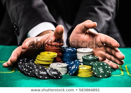 Casino gioco d'azzardo intrattenimento roulette tavola Foto d'archivio © olira