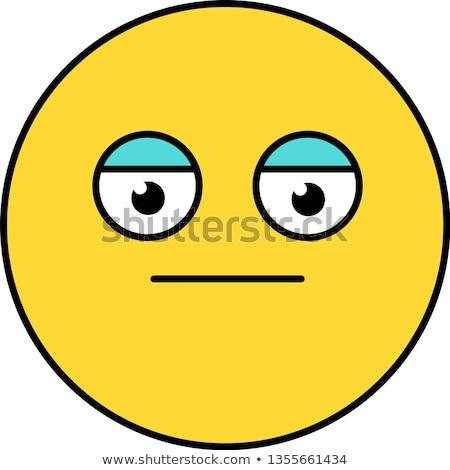 Nötr poker yüz bok ifade kahverengi Stok fotoğraf © barsrsind