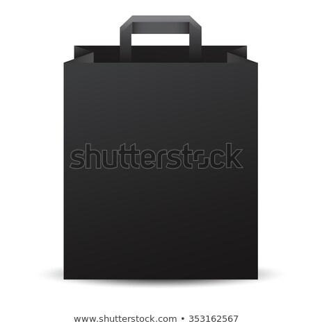 Három vásárlás papírzacskók fekete címke 3D Stock fotó © djmilic