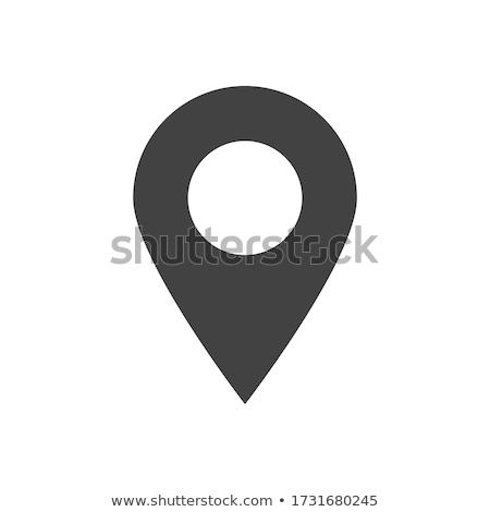 Location point icon vector illustration Stock photo © Ggs
