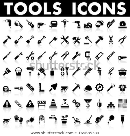 Ogród narzędzia wektora ikona internetowych Zdjęcia stock © ayaxmr