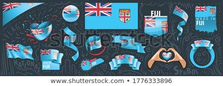 Vettore set bandiera Fiji creativo Foto d'archivio © butenkow