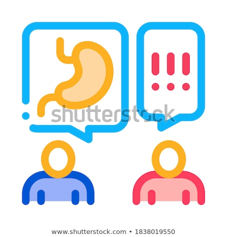 reception at gastroenterologist doctor consultation icon vector outline illustration Stock photo © pikepicture