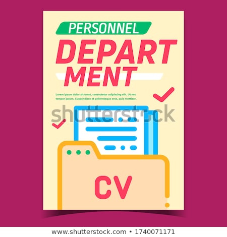 Personnel Department Promotional Poster Vector Stock photo © pikepicture