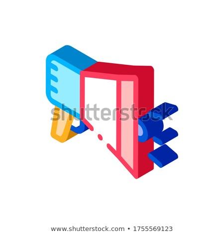 Haut-parleur mégaphone agile élément isométrique icône Photo stock © pikepicture