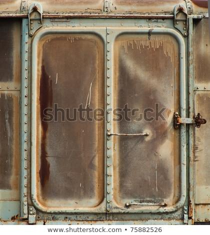Orange Railroad Car door Stock photo © bobkeenan