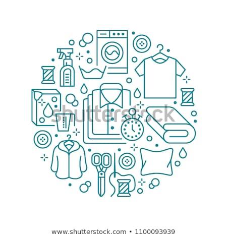 Self Service Laundry Concept Icon Stok fotoğraf © Nadiinko