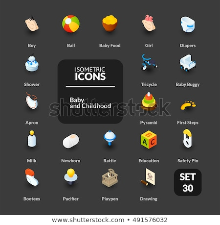 Baby Diaper isometric icon vector illustration Stock photo © pikepicture