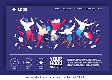 Psychologist service landing page concept Stock photo © RAStudio