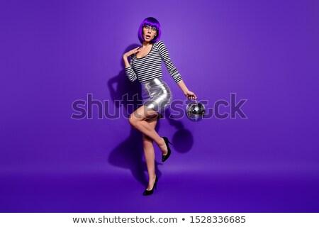 Táncosok lábak diszkógömb fehér buli tánc Stock fotó © illustrart