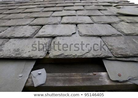 屋根 穴 嵐 建物 ホーム ストックフォト © morrbyte