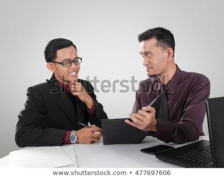 portre · iki · işadamları · iş · çalışmak · erkekler - stok fotoğraf © HASLOO