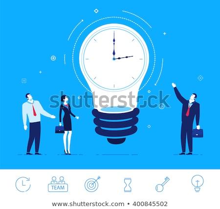 Idő innovatív óra szavak fehér kommunikáció Stock fotó © kbuntu