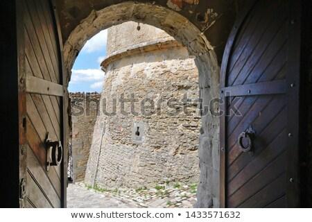 Twierdza główny wejście widoku wysoki obecnej Zdjęcia stock © aladin66