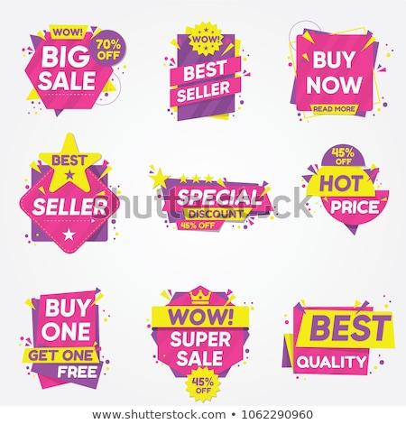 set of sale labels stock photo © orson