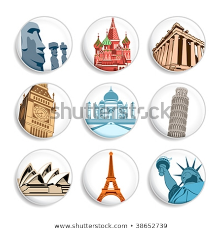 Travel destination badges | Set 1 Stock photo © sahua